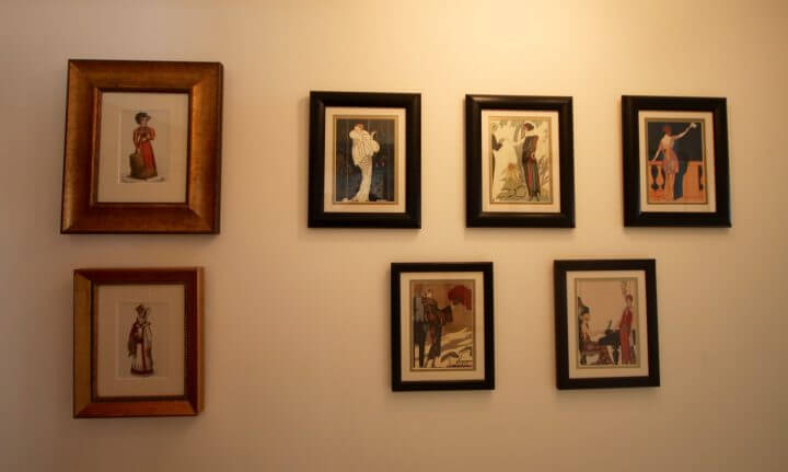 Tasteful paintings and drawings adorn the walls at Angler's Cottage B&B